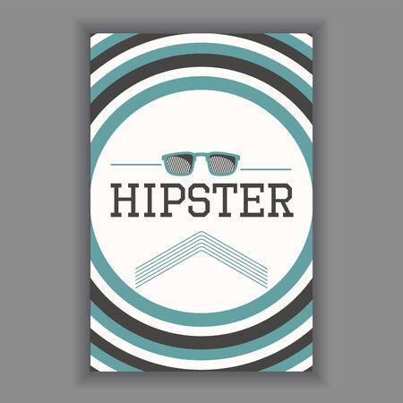 Hipster poster illustration Ilustração