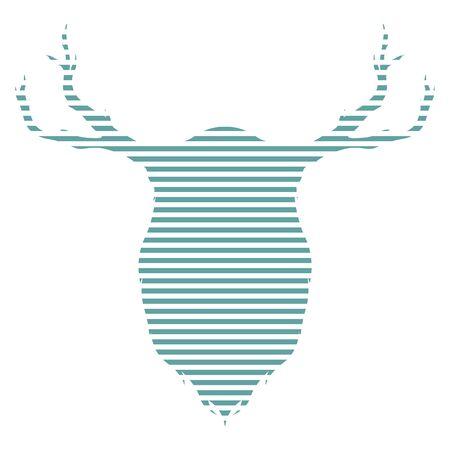 Isolated reindeer image Ilustração