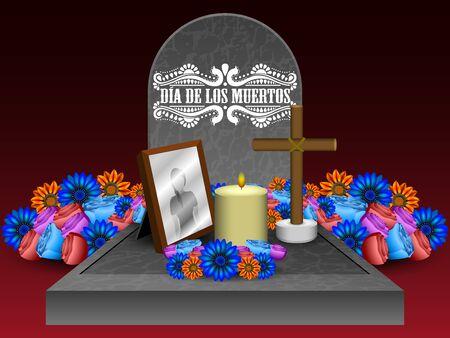Dia de los muertos illustration Ilustração