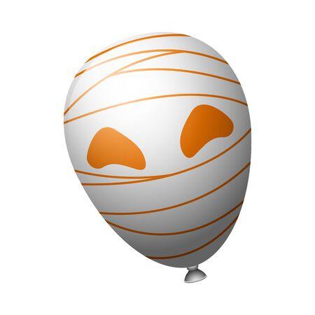 Spooky ballon for halloween Ilustração
