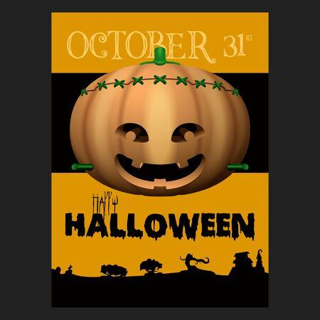 Spooky halloween poster Ilustração