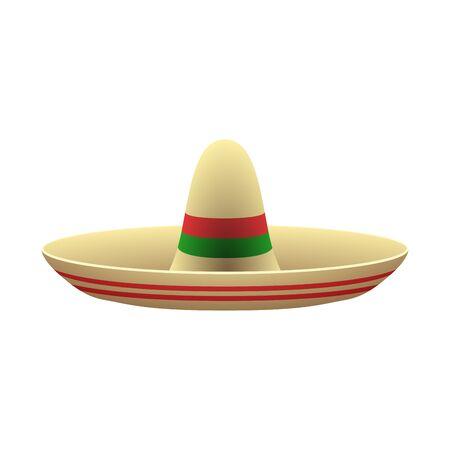 Traditional mexican hat Ilustração