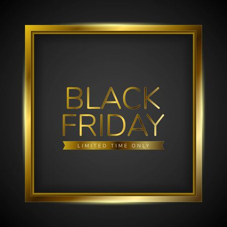 Luxury black friday poster