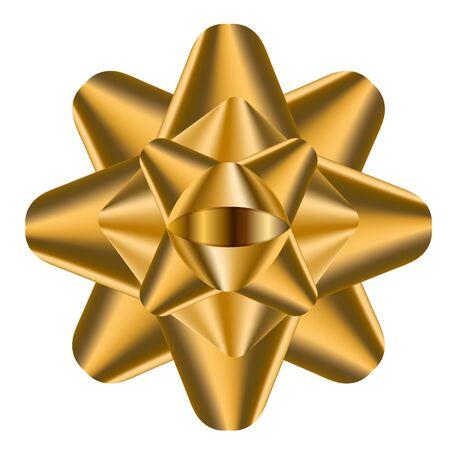 Izolowana złota wstążka