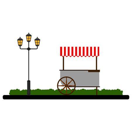 Food cart on a park