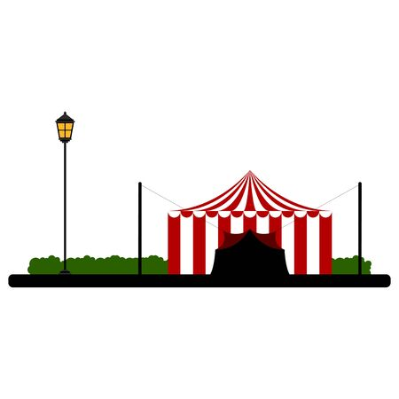 Carnival tent on a park
