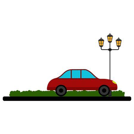 Car on a park