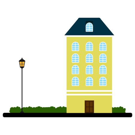 Apartment building on a park
