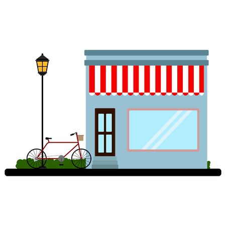 Isolated store building  イラスト・ベクター素材