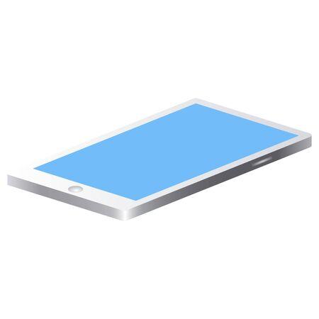 Isolated smartphone image on a white background - Vector Ilustração