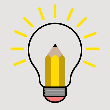 Lightbulb on a colored background. Idea lightbulb concept - Vector Vektorové ilustrace