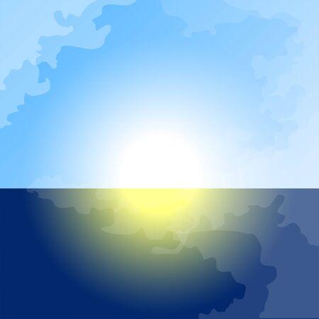 Beautiful natural landscape  イラスト・ベクター素材