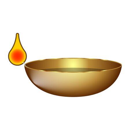 Isolated luxury golden candle