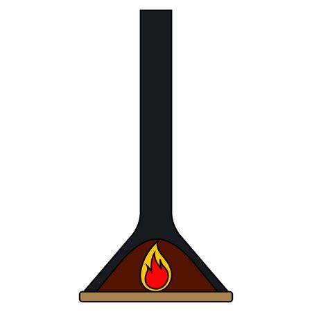 Isolated fireplace image. Home element - Vector illustration