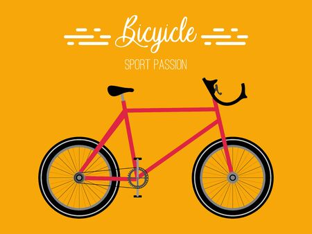 Isolated bicycle poster  イラスト・ベクター素材