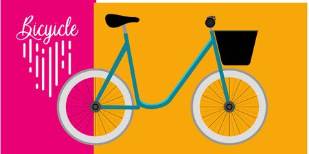 Isolated bicycle. Healthy lifestyle. Sports - Vector illustration