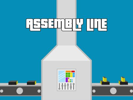 Assembly line poster