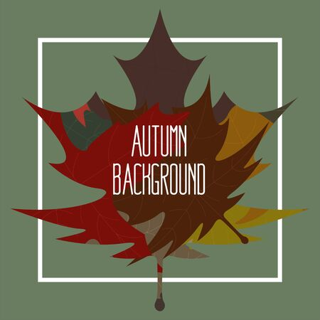 Leaves pattern. Foliage wallpaper. Autumn background illustration - Vector