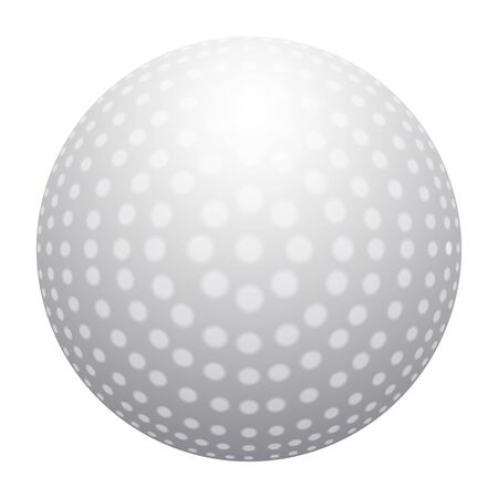 Isolated realistic golf ball