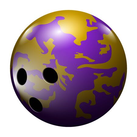Isolated realistic bowling ball