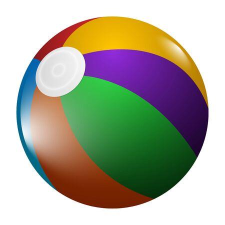 Isolated realistic beach ball