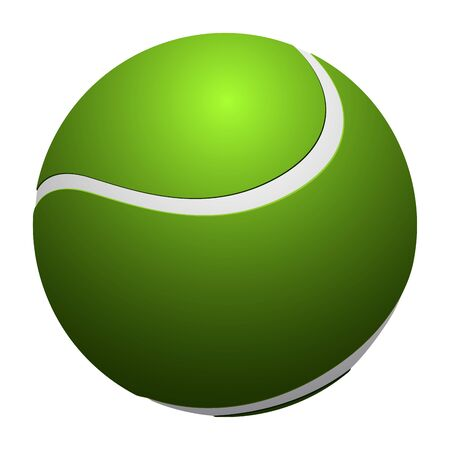 Isolated realistic tennis ball