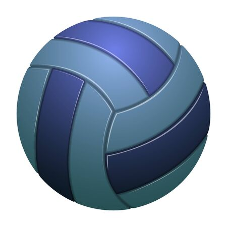 Isolated realistic volleyball ball