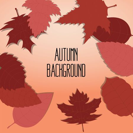 Autumn background illustration  イラスト・ベクター素材