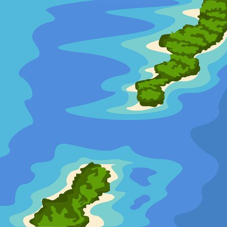 Famous place in colombia. Coral rosary island - Vector