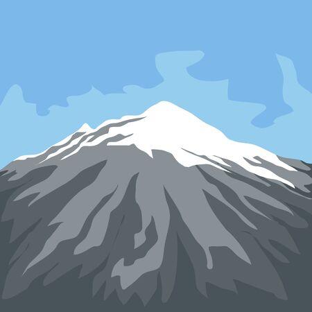 Famous place in colombia. Nevado del ruiz - Vector