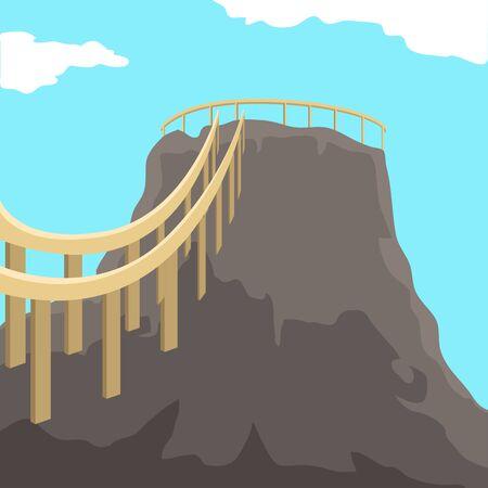 Famous place in colombia. Volcano of totumo - Vector Illusztráció
