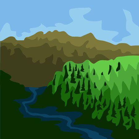 コロンビアの有名な場所。チンガザ国立公園 - ベクトル