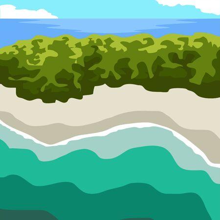 コロンビアの有名な場所。サン・ベルナルド諸島 - ベクター  イラスト・ベクター素材
