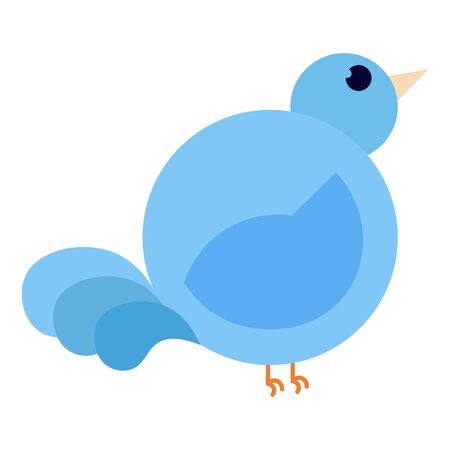Isolated blue bird image over a white background - Vector