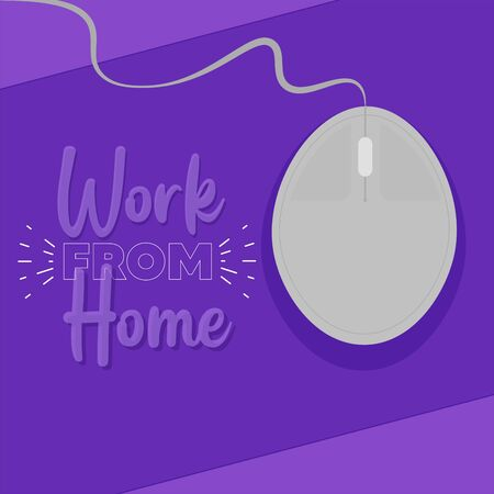 Home office poster. Work from home - Vector Иллюстрация