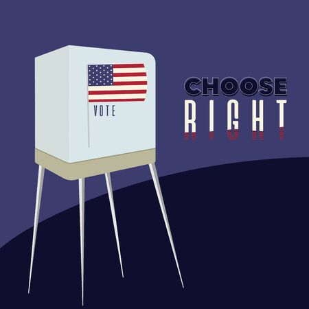 United States elections poster. Choose right text - Vector