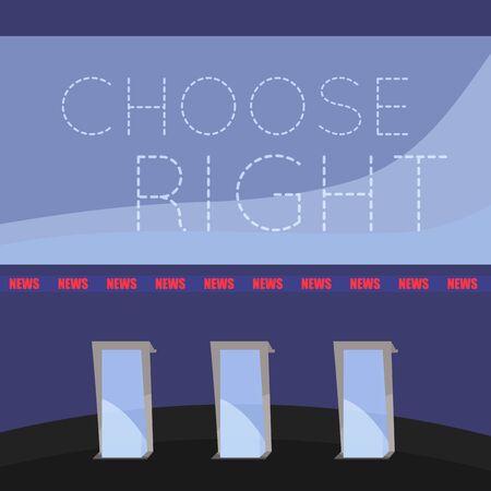 United States elections poster. Debate room - Vector Иллюстрация