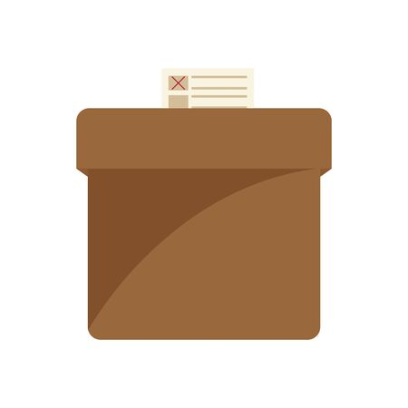 Isolated voting box. Elections day - Vector illustration Иллюстрация