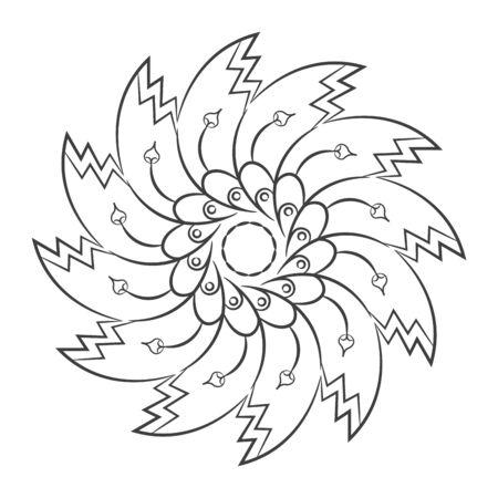 Floral pattern mandala outline Иллюстрация