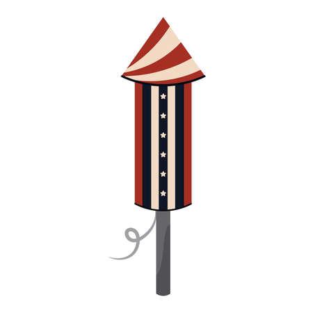 Isolated rocket icon
