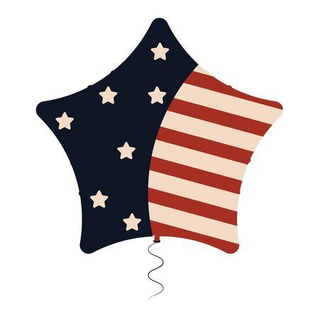 Star balloon with flag Illustration