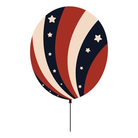 Balloon with flag