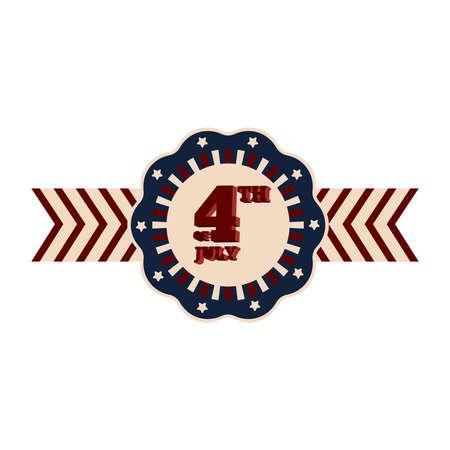 4th july campaign button Illustration