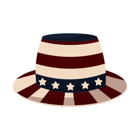 Traditional american hat Illustration
