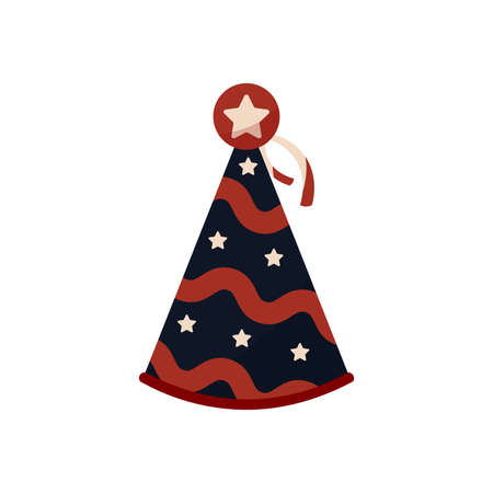 Isolated party hat Illustration