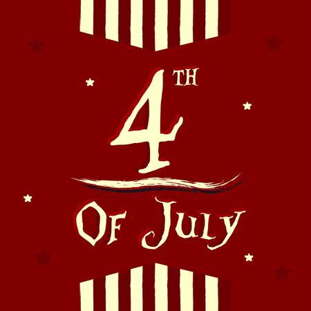 4th july poster Illustration