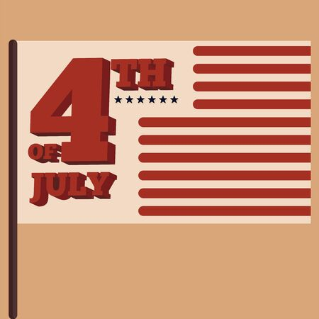 4th july poster. Independence day of USA - Vector