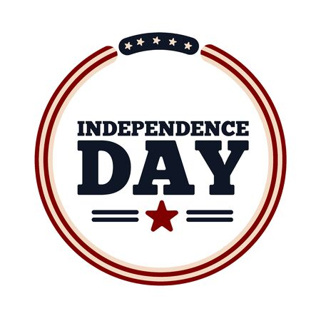 4th july campaign button. Independence day of USA - Vector Illustration