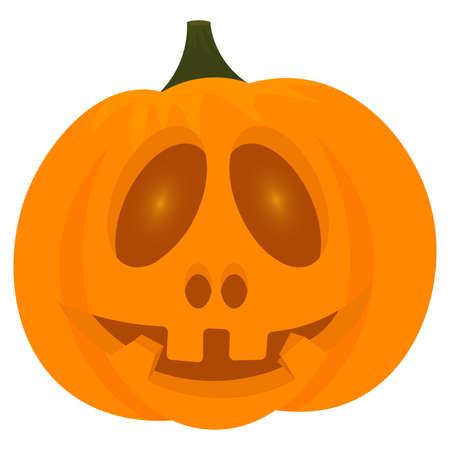 Scary halloween pumpkin Vektorgrafik