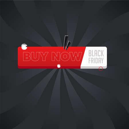 Black friday buy now poster Ilustração